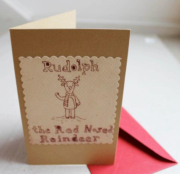 Rudolph Intaglio print Christmas Card